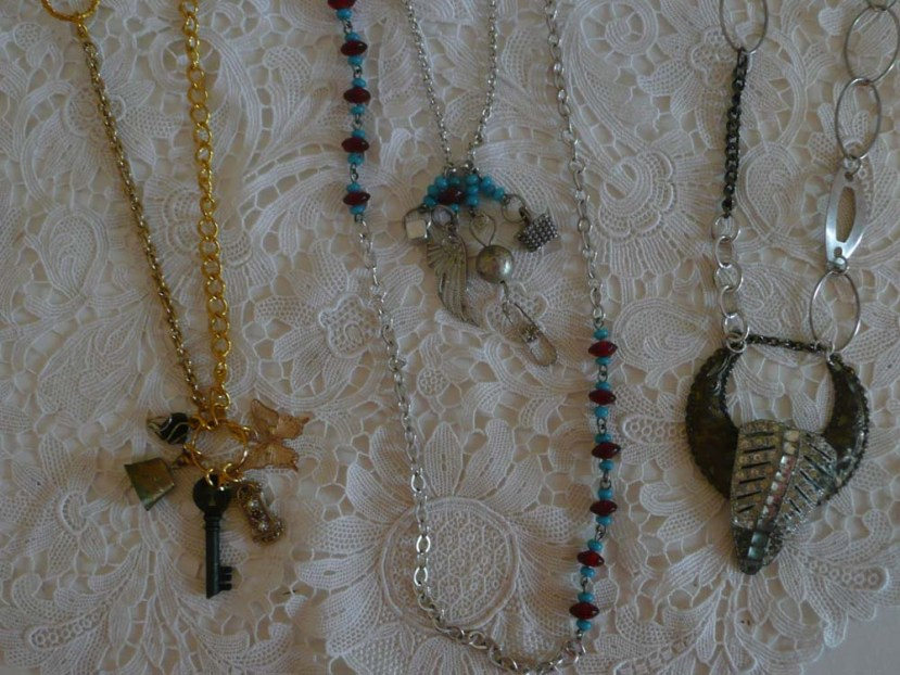 Close Up of Trinket Necklaces