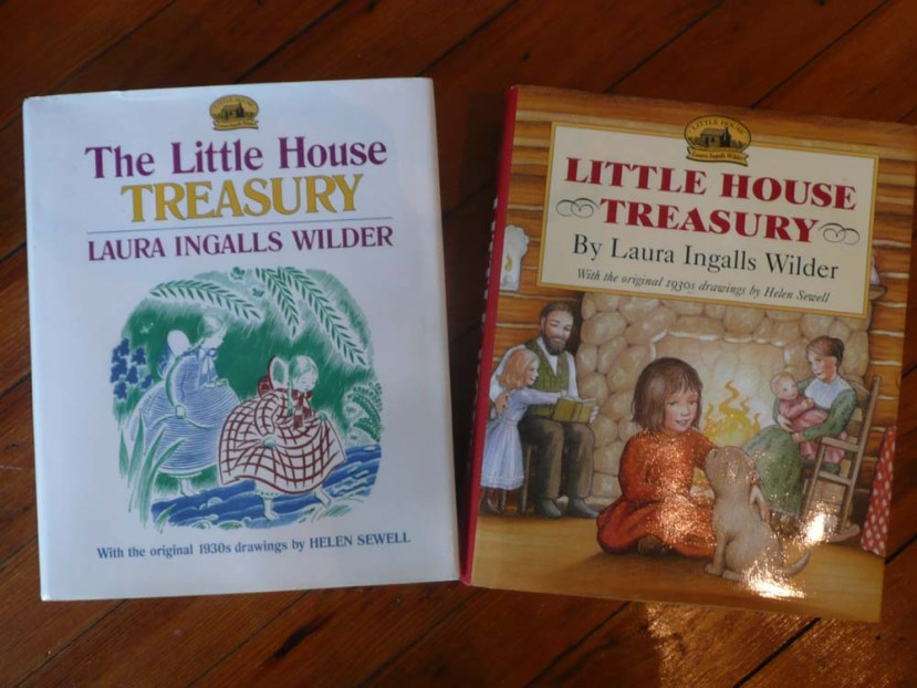 Two big Little House Treasury Books with Illustrations from the 1930's.