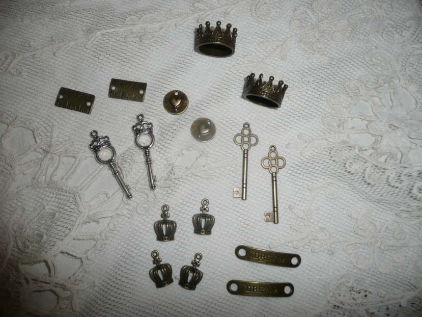 Metal charms