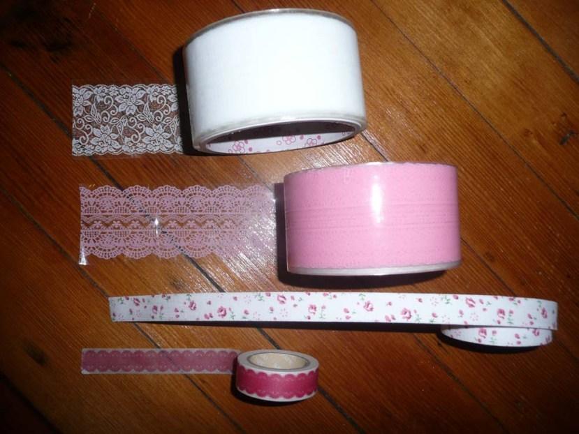 4 rolls of tape
