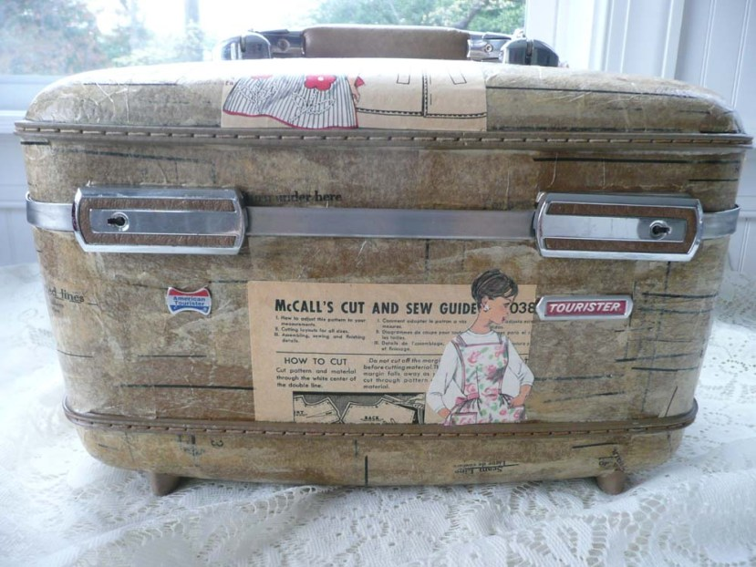 Up-cycled vintage train case.