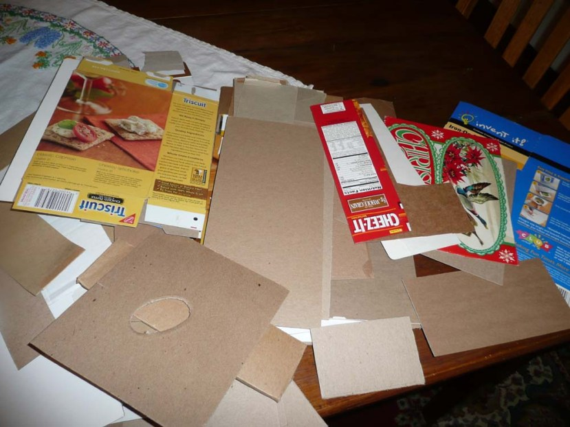 Big stash of cardboard. All kinds of cardboard!