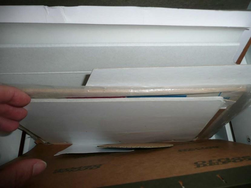White cardboard