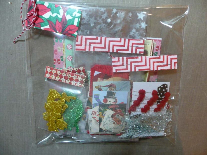 Package of Christmas goodies for Beth to craft with.