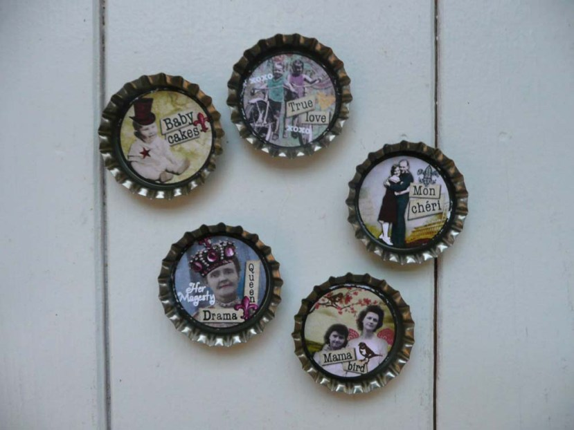 Altered bottle caps