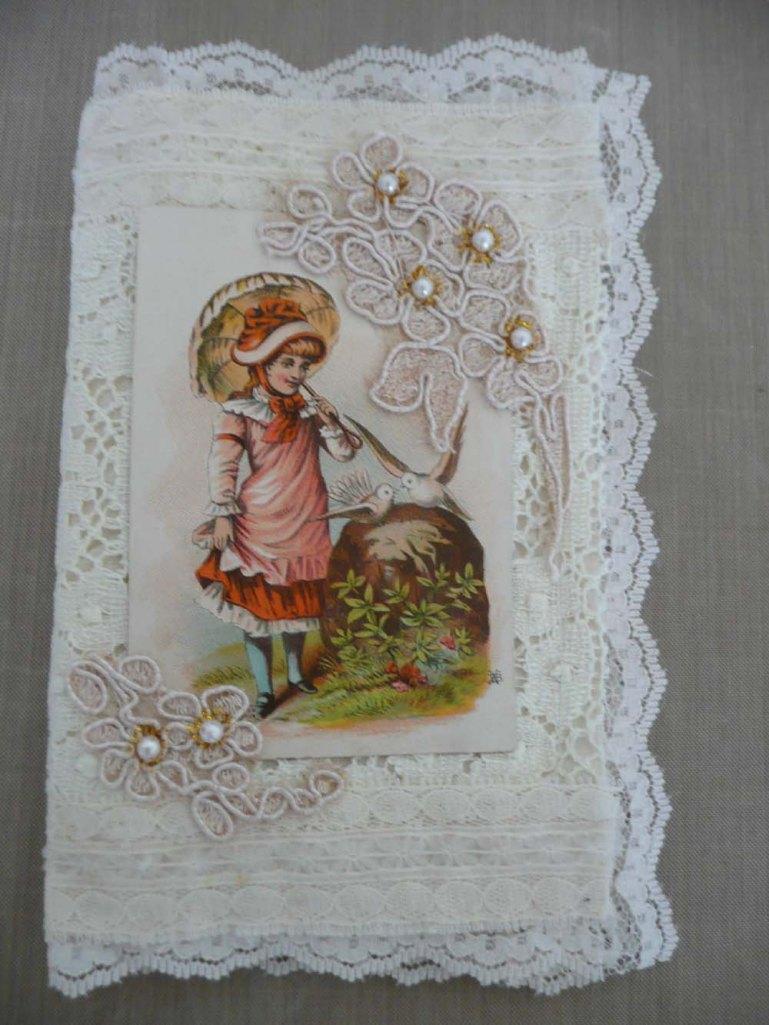 Padded Lace Stickpin Book