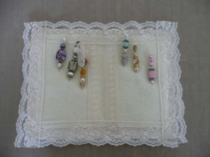 Stickpins made with a variety of beads.
