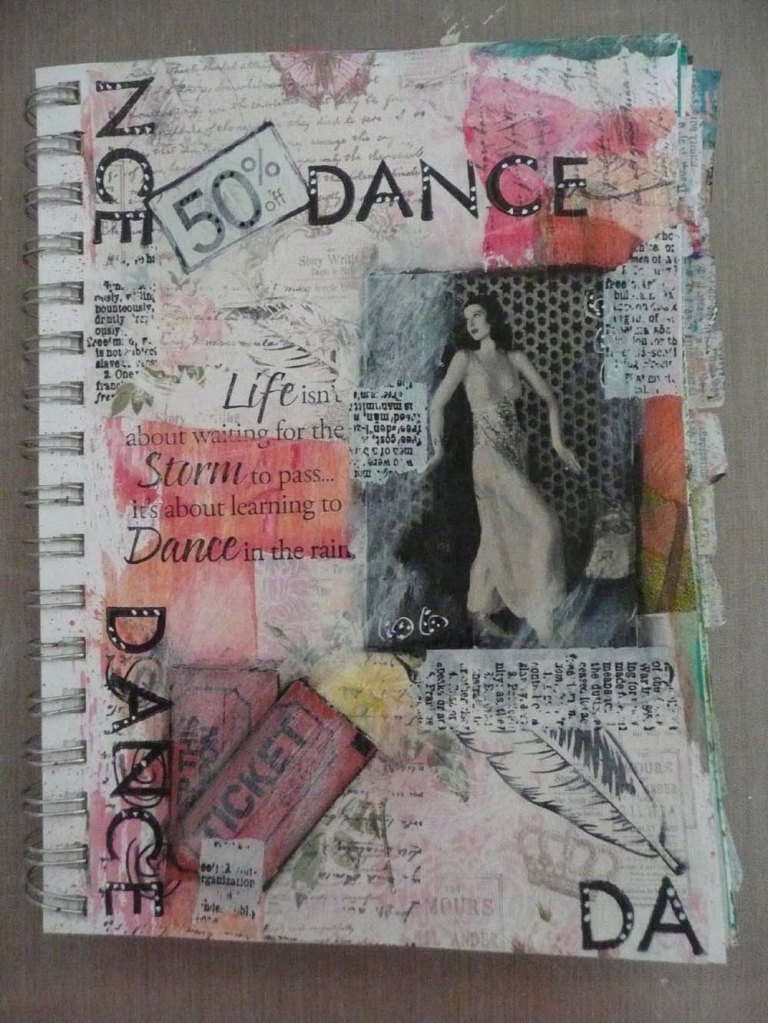 """Dance"". First finished page from journaling by 5s."