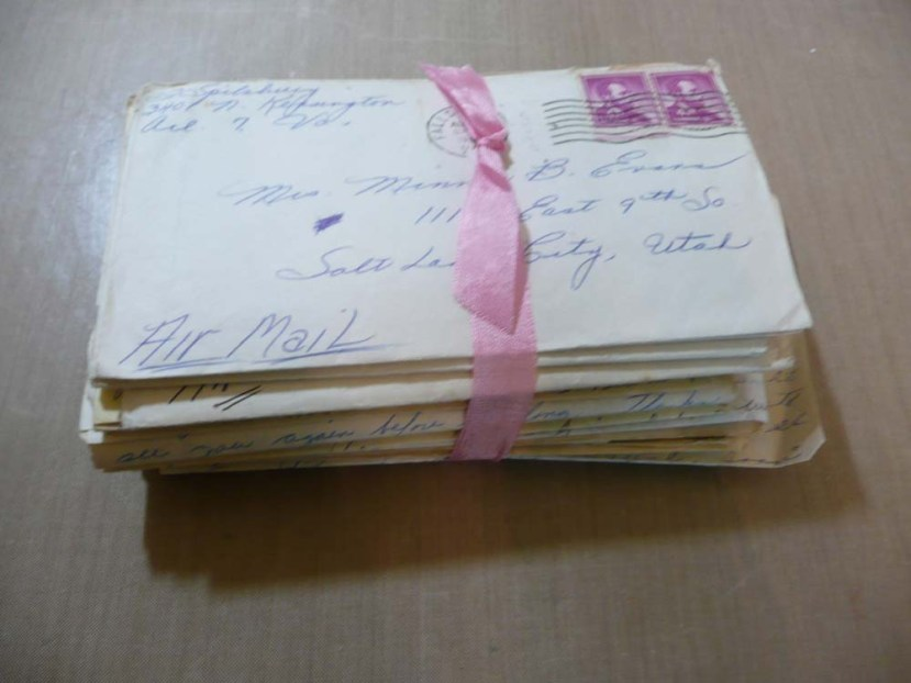 Big bunch of old hand written letters.