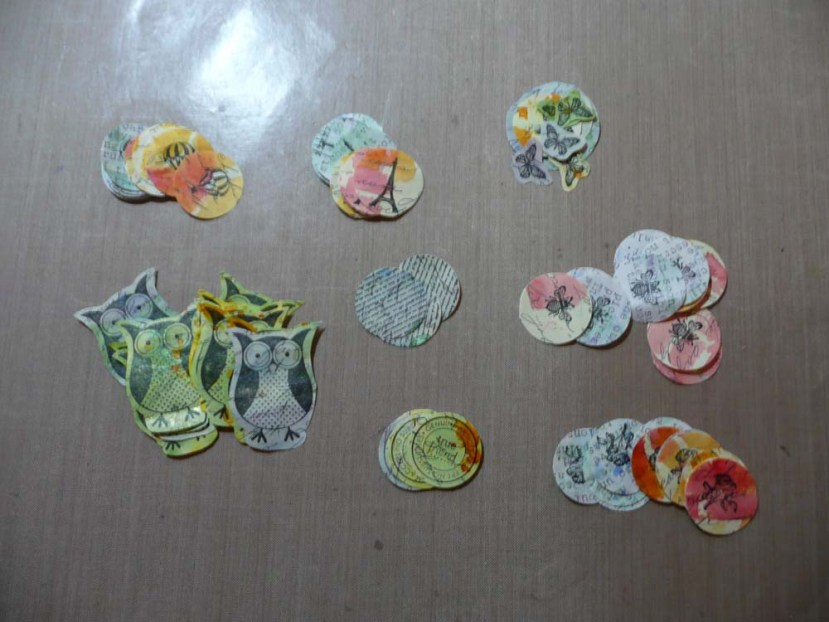 Little embellishments to use in mixed media or my art journal.
