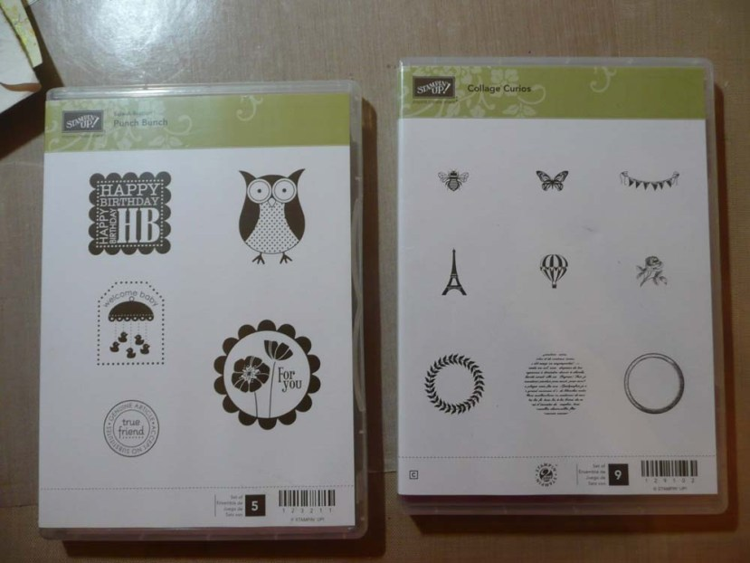 Little Stampin Up stamp sets I got for my birthday.