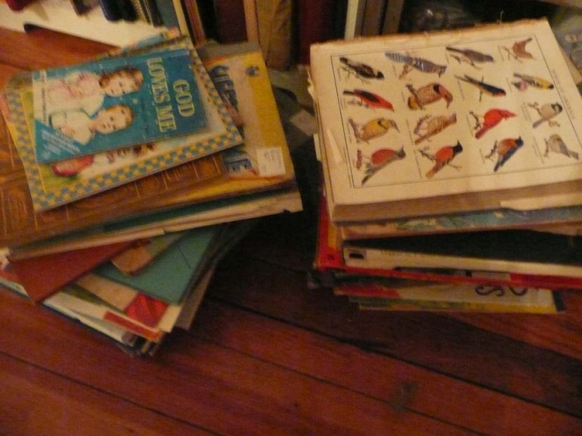A shameful hoard of old books.