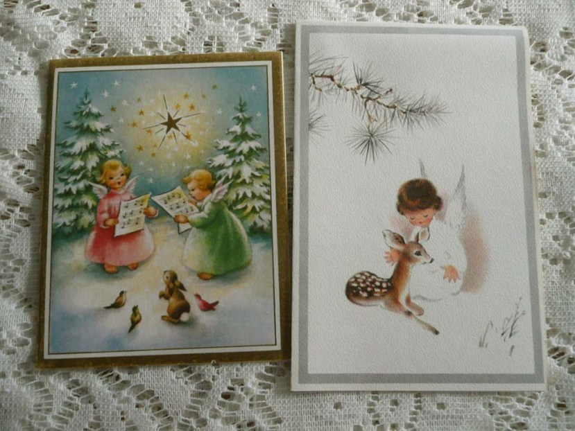 Vintage greetings cards purchased at a flea market.
