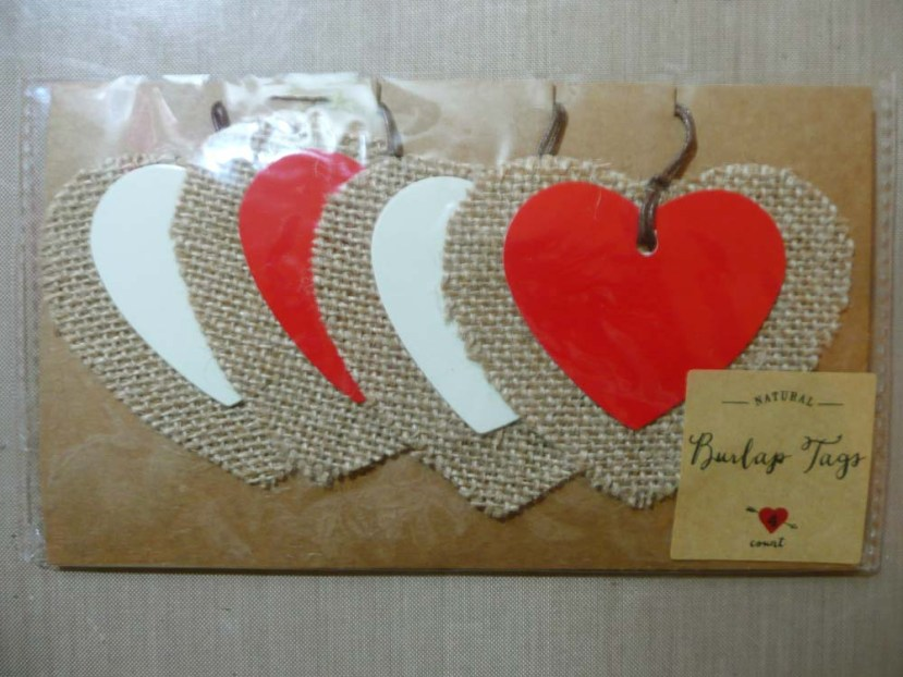 Target's Two Layer Burlap And Cardstock Tags
