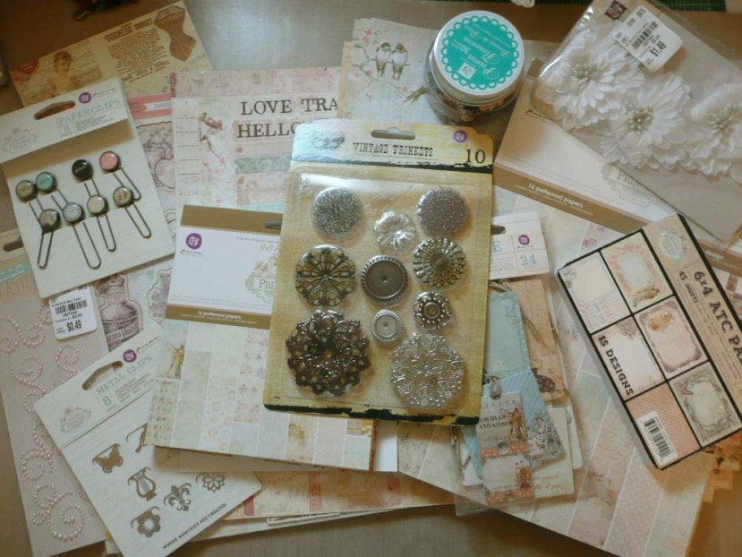 "Whole kit of Prima Marketing's ""Princess"" papers and embellishments"