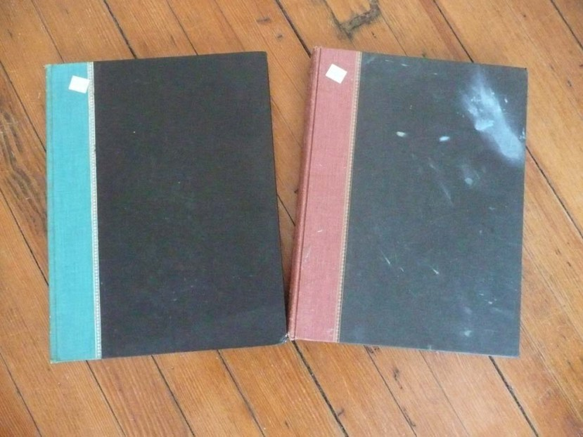 Two old reference books.