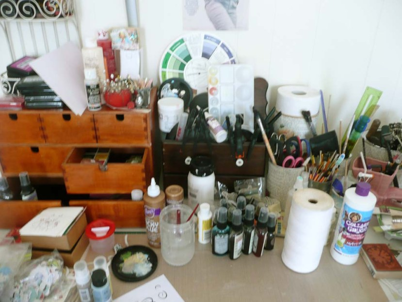 The surface of my desk. There is so much stuff on it I only have about two square feet to work on!